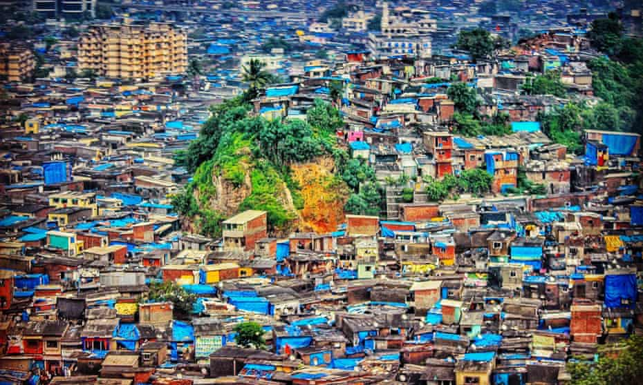 Dharavi as seen from the descent into Mumbai's international airport.