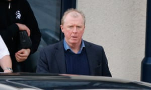Steve McClaren looks deeply unhappy as he leaves Newcastle United's training ground on Thursday.