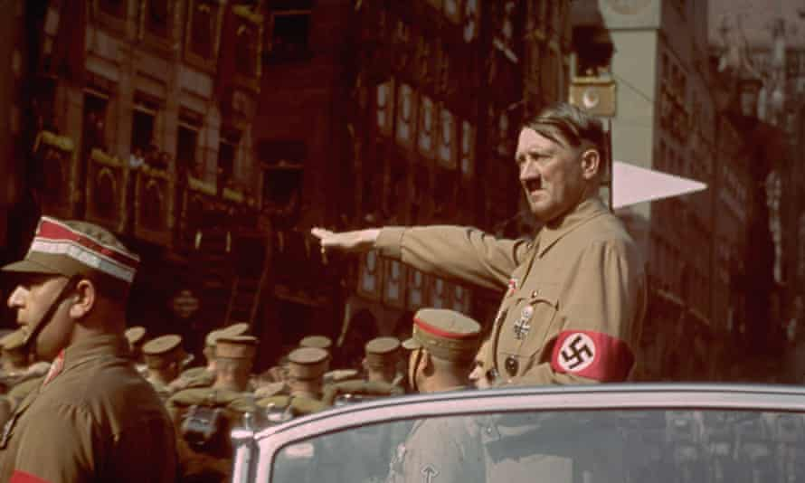 Hitler at the Nuremberg rally in 1938.