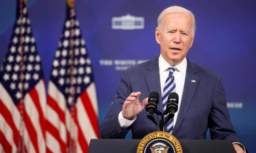 Biden at the White House on Thursday. He said the law 'unleashes unconstitutional chaos and empower self-anointed enforcers to have devastating impact'.