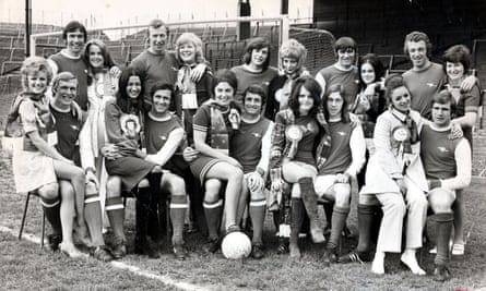 The Arsenal team pose with their wives before the Cup final in 1971.