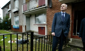 Iain Duncan Smith on a visit to Glasgow's Easterhouse estate. His promise to 'listen and learn' rings horribly hollow today.
