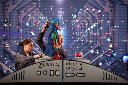Laser Beak Man on stage