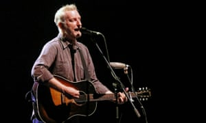 Billy Bragg on stage at the Sydney Opera House on 19 April 2017