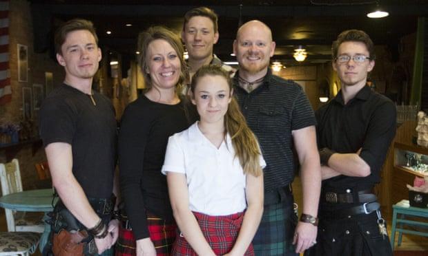 The Siebers family at their Sea Bears restaurant.