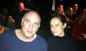John Crace and Guardian head of fashion Imogen Fox at the Topman show.