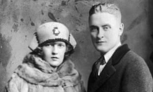 Portrait of American author F Scott Fitzgerald and his wife Zelda in 1921.