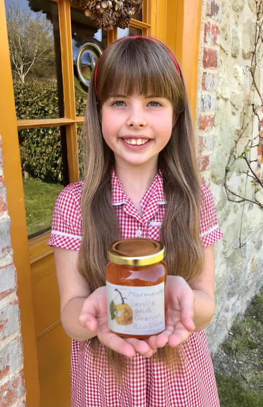 Flora Rider with jar of marmalade