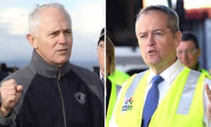 Composite of Malcolm Turnbull and Bill Shorten