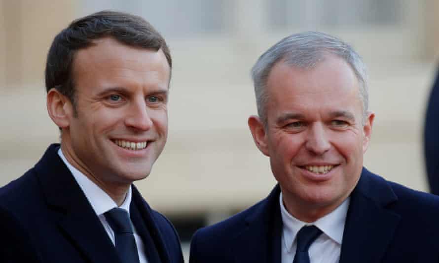 Emmanuel Macron with his new minister François de Rugy.