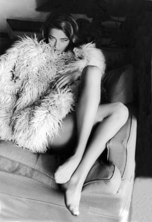 Rampling on a couch