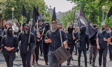 An anti-fascist counter-march to #MarchAgainstSharia in Harrisburg, Pennsylvania.