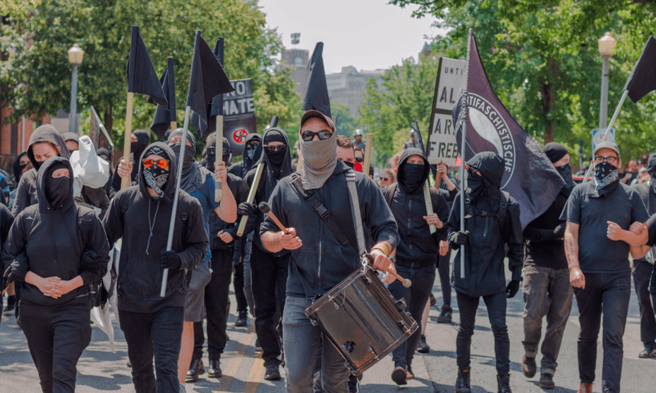 An anti-fascist counter-march to #MarchAgainstSharia in Harrisburg, Pennsylvania.