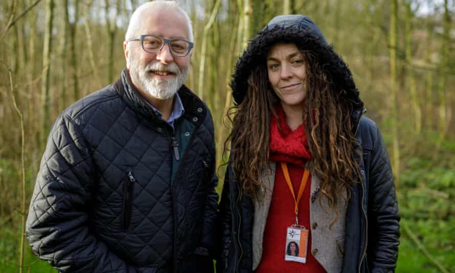 Stephen Fowler, who runs the Dairy House hostel in Mendip, with outreach worker Rachel Inman.