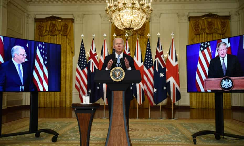Joe Biden joined with the leaders of the UK and Australia to announce a new security partnership.