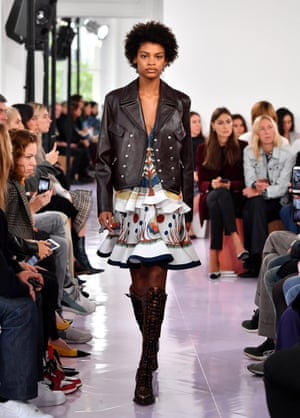 2d208b89105 Boots made for stomping … a model walks the runway at Chloé.