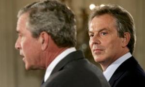Tony Blair with George W Bush