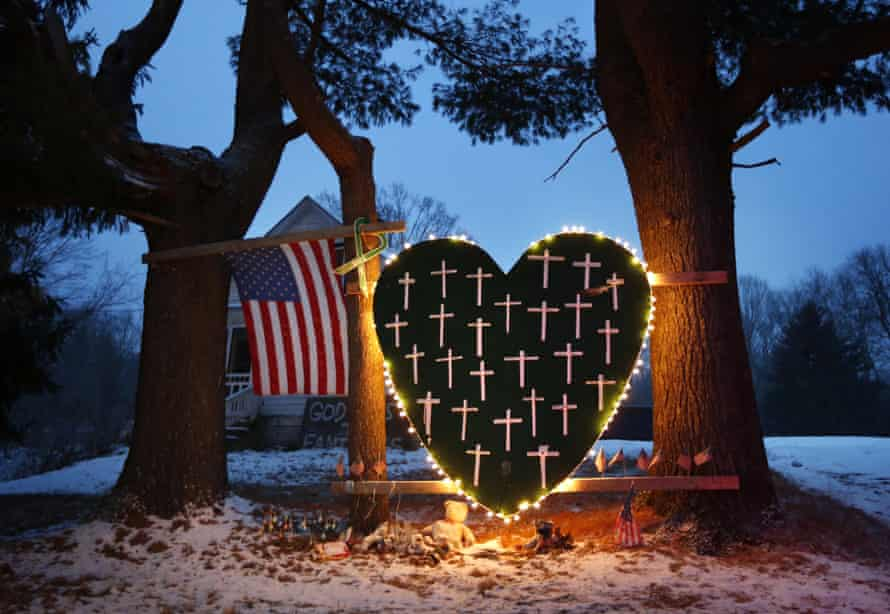 A memorial for the victims of the Sandy Hook elementary school shooting in Newtown, Connecticut.