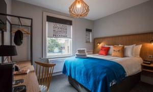 Bedroom at the Victoria Inn, Peckham