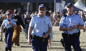 Police at Splendour in the Grass in July.