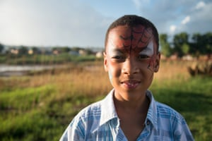 Ronaldo Nuku, 11, a resident of Davidsonville, who had his face painted at a church activity, says he's not allowed to play in the wetland or the nearby public park. <br><br>'I'm not allowed to because it's very unsafe… Maybe you can sink in or the water can pull you in,' he says. 'Normally for me, I play in my yard. I don't play in the park or the street because there is a lot of water in the park… I think it's polluted water or something.'