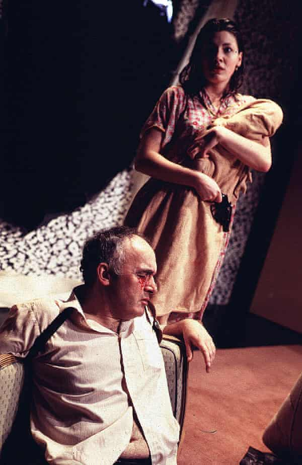 Pip Donaghy and Kate Ashfield in Blasted at the Royal Court in 1995.