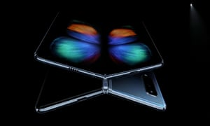The Samsung Galaxy Fold has a 7.3in screen on the inside that unfolds like a book.