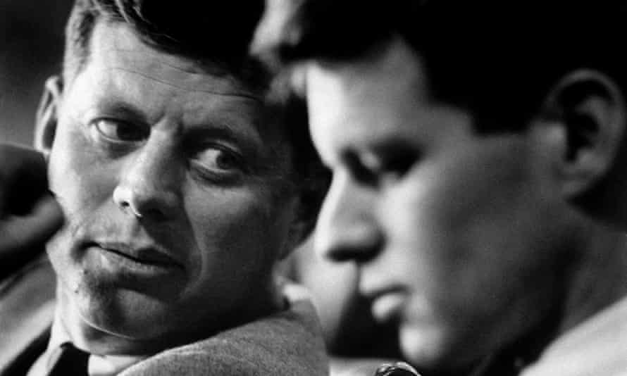 John F Kennedy, left, came to rely on his younger brother Bobby, right, 'to do his dirty work'.