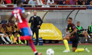 Pep looks happy with the display from his team.