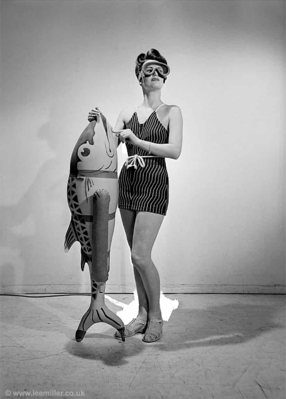 Woman as perceiver ... Lee Miller, Bathing Feature, Vogue Studio, London, 1941.