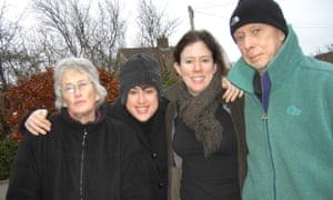 Clare Allan, second left, with her family on her father's final Boxing Day.