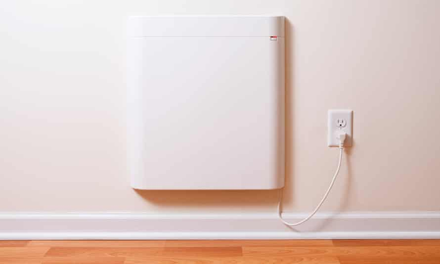 A wall-mounted electric convection heater
