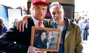 Simon Hattenstone meets a Trump impersonator after listening to Alex Salmond Unleashed at the Edinburgh festival fringe.