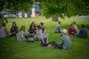 The Human Connection's monthly eye-gazing event at Fitzroy Gardens