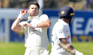 Jimmy Anderson gets ready to unleash a delivery.