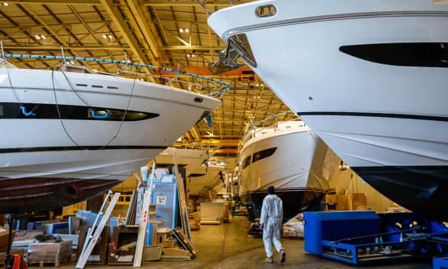 Princess Yachts' shipyard in Plymouth.