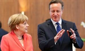 Angela Merkel with David Cameron at G7 summit in June