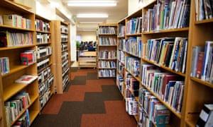 Library interior, London, England