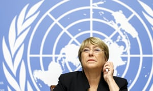 The UN high commissioner for human rights, Michelle Bachelet