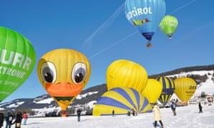 Balloon Festival in Dobbiaco, Italy