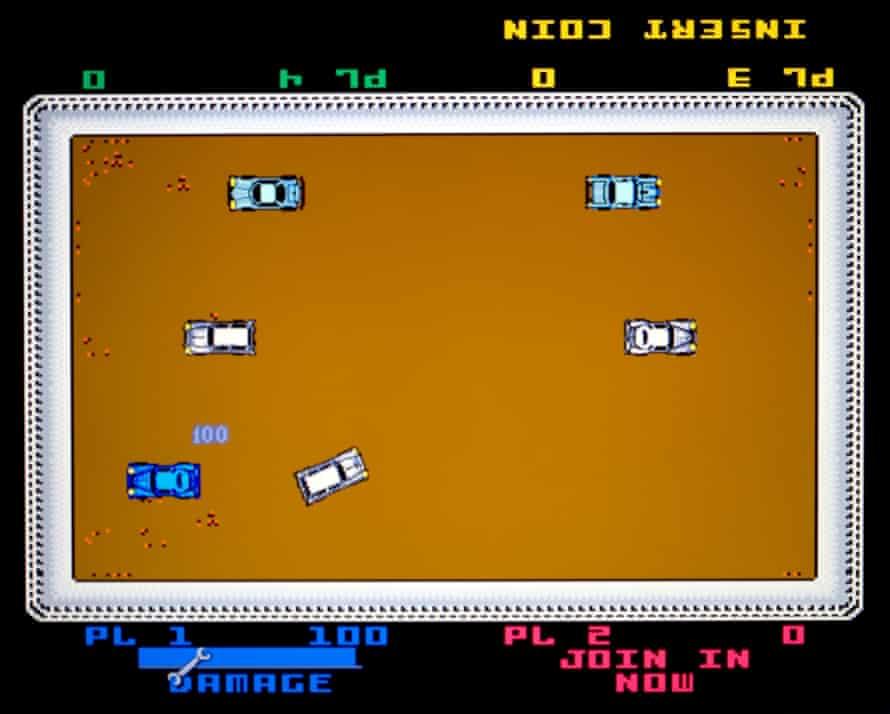 Lawson's Demolition Derby arcade game.