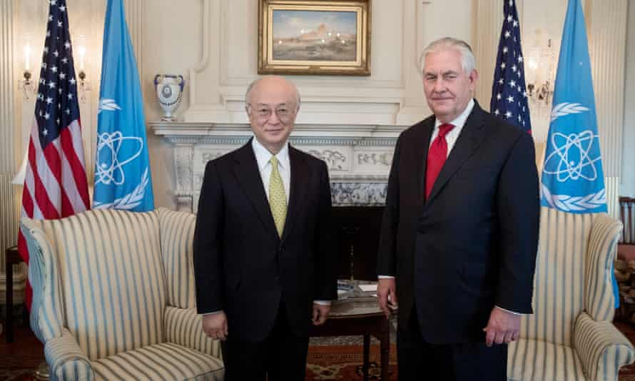 US Secretary of State Rex Tillerson and Director General of the International Atomic Energy Agency (IAEA), Yukiya Amano, in March 2017.