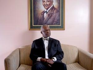 Eric Calhoun, plaintiff in the Legal Defense Fund lawsuit, photographed at his home in Pleasant Grove.