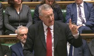 Hilary Benn makes his closing speech in the airstrikes debate.