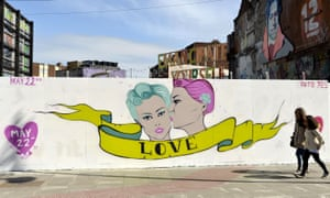 A mural on Dublin's Richmond Street in the buildup to the gay marriage referendum.