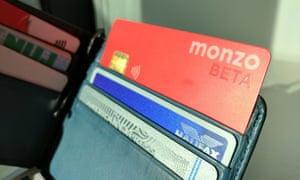 A Monzo beta card in wallet
