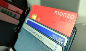 monzo card in wallet