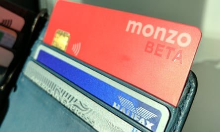 A Monzo beta card in wallet.