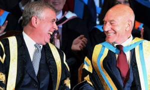 Duke of York and Sir Patrick Stewart