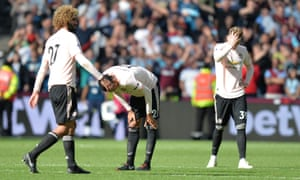 United players look dejected at the final whistle